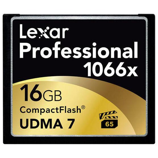 Lexar 1066x Pro CompactFlash Memory Card - 16GB