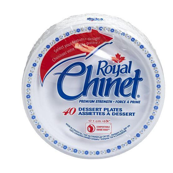 Royal Chinet Dessert Plates - 40 pack