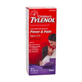 Tylenol* Children's Suspension Liquid - Grape Punch - 100ml