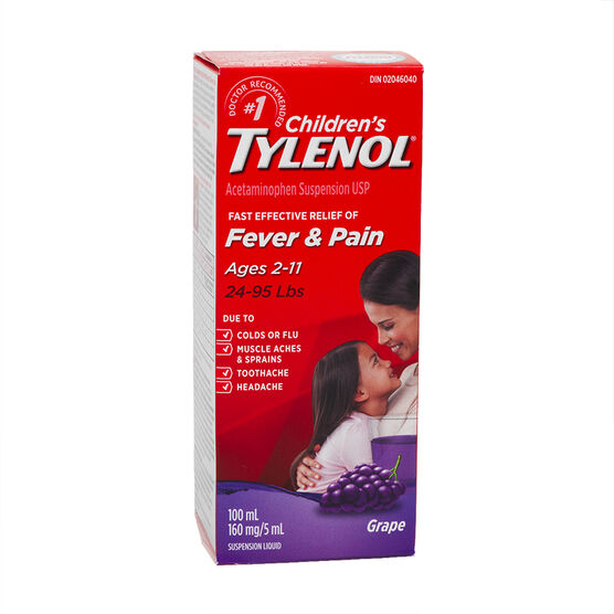 Tylenol* Children's Suspension Liquid - Grape Punch - 100ml