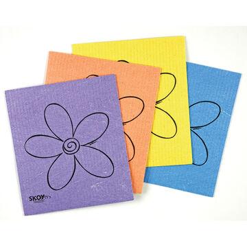 Skoy Cloth - Multi Colour - 4 Pack
