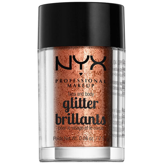 NYX Professional Makeup Face and Body Glitter - Copper