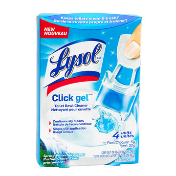 Lysol Click Gel Toilet Bowl Cleaner - Spring Waterfall - 4's
