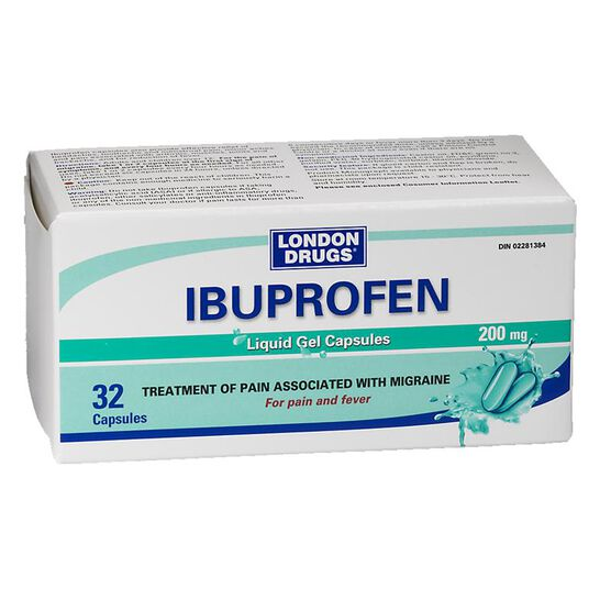 London Drugs Ibuprofen 200mg - 32 liquid gel capsules