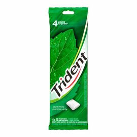 Trident Gum - Spearmint - 4 pack/12 pieces