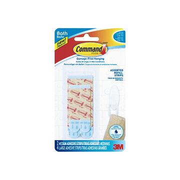 3M Command Water Resistant Strips - BATH22-ES