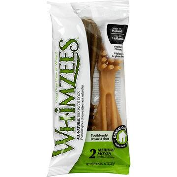 Whimzees Toothbrush Chew - Medium - 2 pack