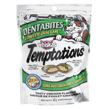 Whiskas Temptations Dentabites Oral Care Cat Treats - 60g