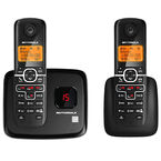 Motorola DECT 6.0 2-Handset Cordless Phone with Answering Machine - Black - L702M