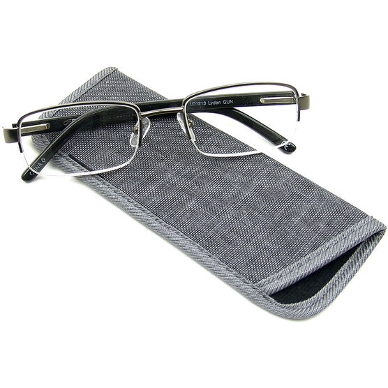 Foster Grant Lyden Gun Men's Reading Glasses - 2.00