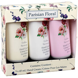 Parisian Floral Hand Cream Set - Wild Rose - 3 piece