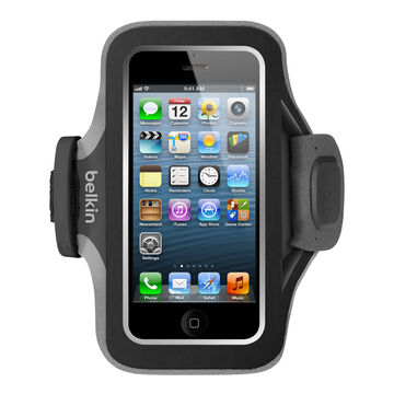 Belkin Slim-Fit Plus Armband for iPhone 5/5s/5c and iPod 5th Gen - Blacktop/Overcast - F8W367BTC00