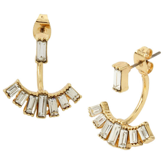 Haskell Front and Back Earrings - Gold