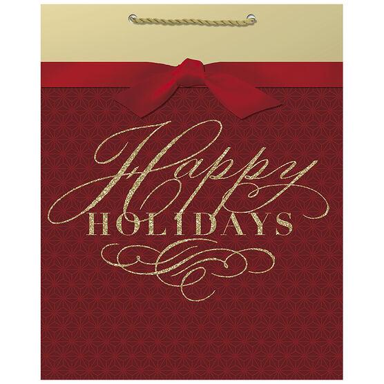 Hallmark Happy Holidays Bag - Large - Elegant Reds - 0449XGB1253