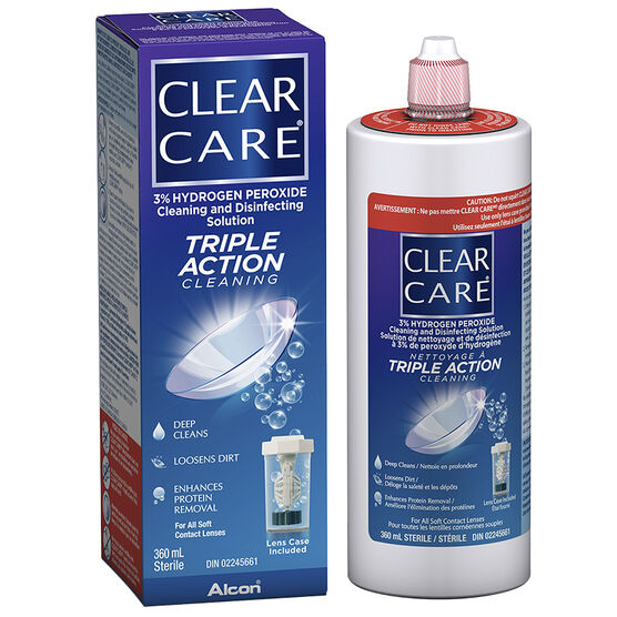 Alcon Clear Care Cleaning and Disinfecting Solution - 360ml