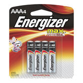 Energizer Max AAA Batteries - 4 pack