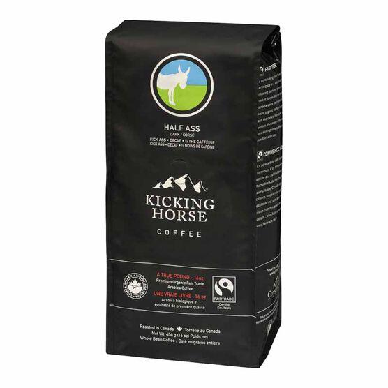 Kicking Horse Organic Whole Bean Dark Coffee - Half Ass – 454g