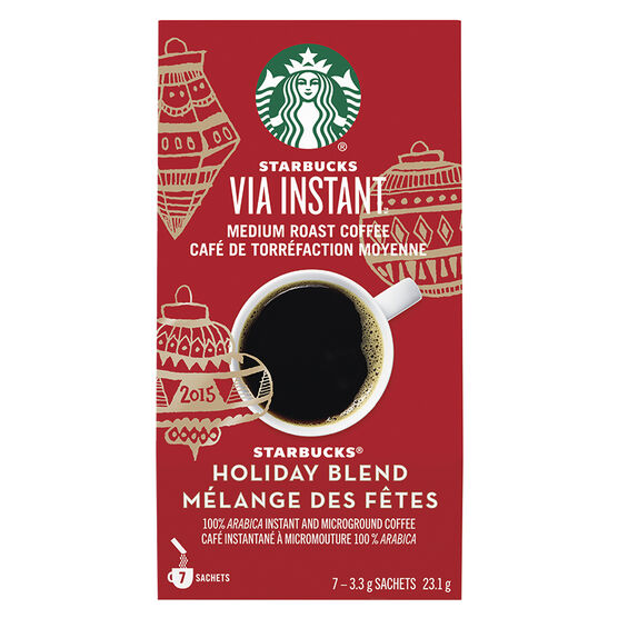 Starbucks Via Instant Medium Roast Coffee - Holiday Blend - 7's