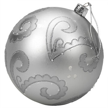 Winter Wishes Blue Ice Ball Ornament - Silver