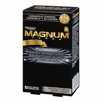 Trojan Magnum Naked Sensations Lubricated Condoms - 10's