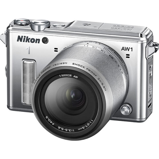 Nikon 1 AW1 with 11-27.5mm Lens - Silver