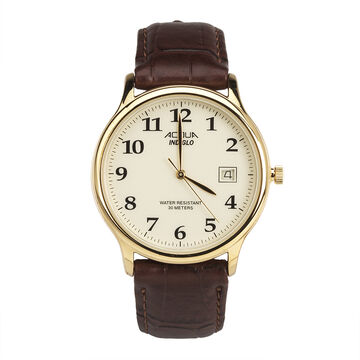 Timex Acqua Men's Quartz Analogue Watch - Brown - 63282