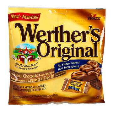 Werther's Original No Sugar Added - Caramel Chocolate - 60g