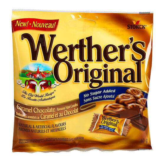 Werther's Original No Sugar Added - Caramel Chocolate - 60g