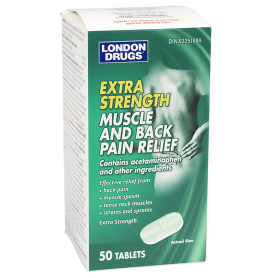 London Drugs Muscle & Back Pain Relief - Extra Strength - 50's