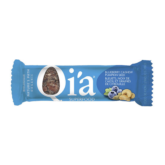 Nature's Path Organic Qi'a Bar - Blueberry Cashew Pumpkin Seed - 38g