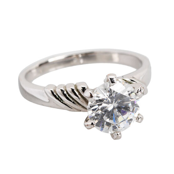 Marca Clear Cubic Zirconia Ring - Size 8