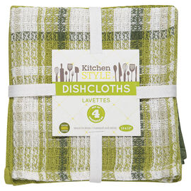 Kitchen Style Dishcloth - Green - 4 pack