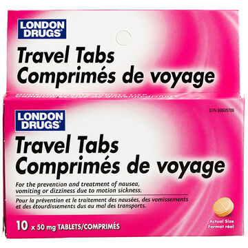 London Drugs Travel Tablet - 10's