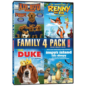 Family 4 Pack: Air Bud World Pup/The Adventures of Renny the Fox/The Duke/Impy's Island - DVD