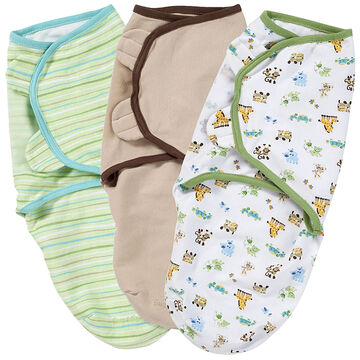 Summer Infant Swaddle Me - Mom and Baby/Sage Stripe/Cappuccino - 3 pack
