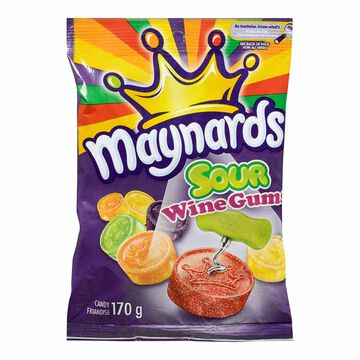 Maynards Sour Wine Gums - 170g