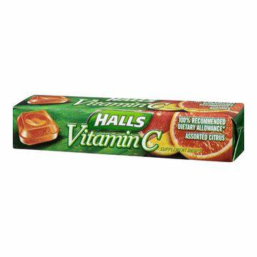 Halls Defense Vitamin C - Citrus - 9