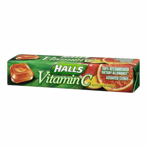 Halls Defense Vitamin C - Citrus - 9