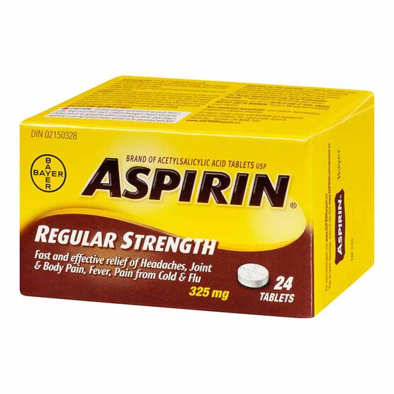 ASPIRIN 325mg tablets - 24's