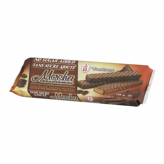 Voortman No Sugar Added Mocha Wafers - 155 g