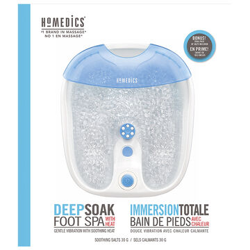 Homedics Deep Soak Foot Spa with Heat - FB-65-CA