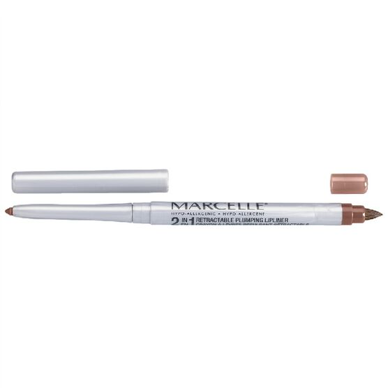 Marcelle 2-in-1 Retractable Plumping Lipliner - Natural
