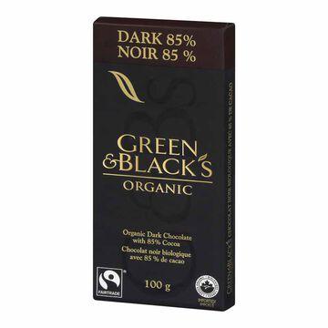 Green & Blacks Organic Chocolate Bar - 85% Dark - 100g