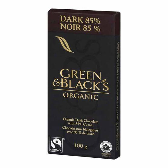 Green & Blacks Organic Chocolate Bar - 85% Dark - 100g