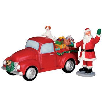 Lemax Santa's Truck - Set of 2 Figurines