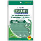 G.U.M. Professional Clean Flosser - Fresh Mint - 40's