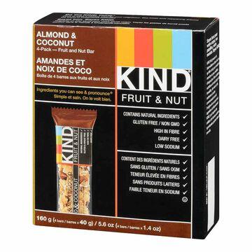 Kind Bar - Almond & Coconut  - Gluten Free - 4 pack/160 g