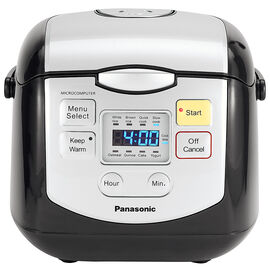 Panasonic Rice Cooker - Black - 4 Cup - SRZC075K