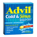 Advil & Cold Sinus Liqui-Gels - 20's