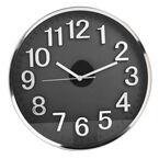 London Drugs Wall Clock - Brisbane - Silver/Black